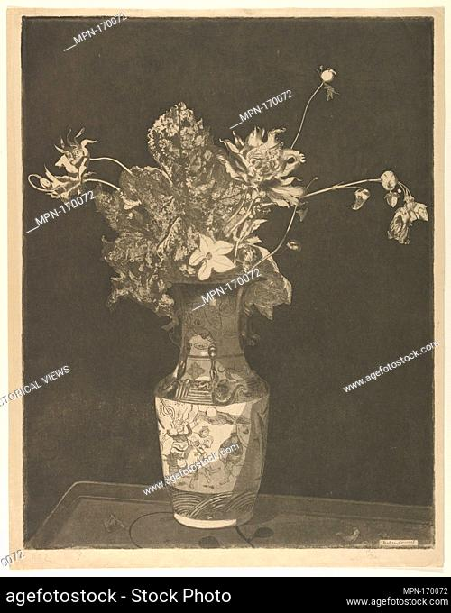 L'Agonie des Fleurs. Artist and engraver: Théodore Roussel (French, Lorient, Brittany 1847-1926 St. Leonards-on-Sea, Sussex); Date: 1890-95; Medium: Etching