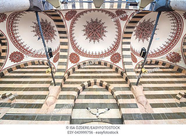 View of Nebi Prophet Mosque built by Akkoyunlus in 15th century. Diyarbakir,Turkey. 16 July 2018