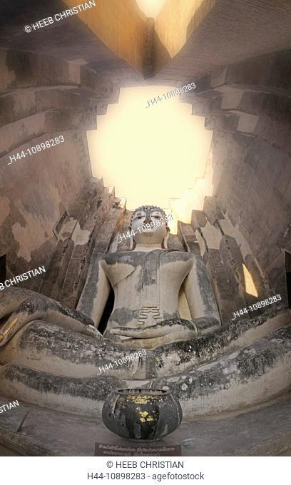 Buddha, Statue, Wat Si Chum, Sukhothai, Historical Park, Sukhothai, Thailand, Asia, religion