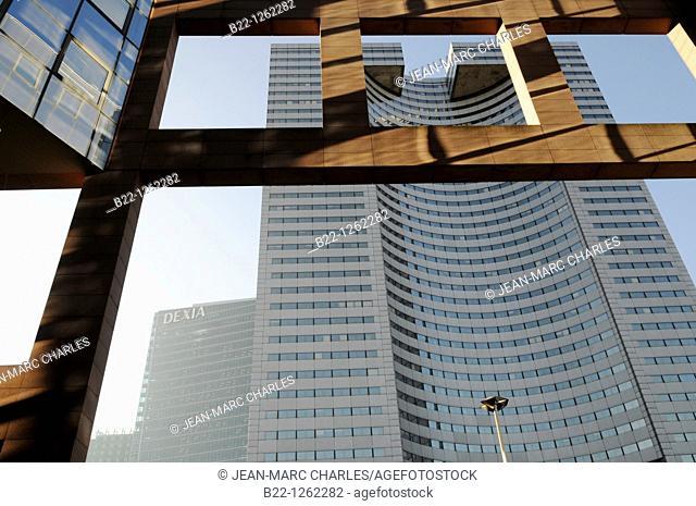 Buildings of the business sector Paris La Défense, Paris, France