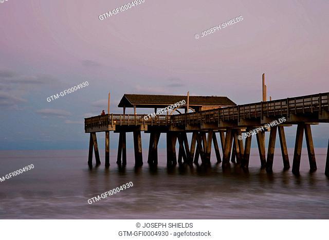 Tybee Island pier at twilight