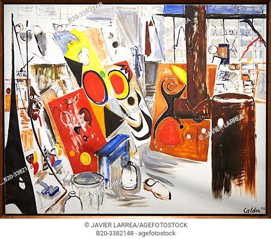 """""""Mon atelier"""", 1955, Alexander Calder, Picasso Museum, Paris, France, Europe"""
