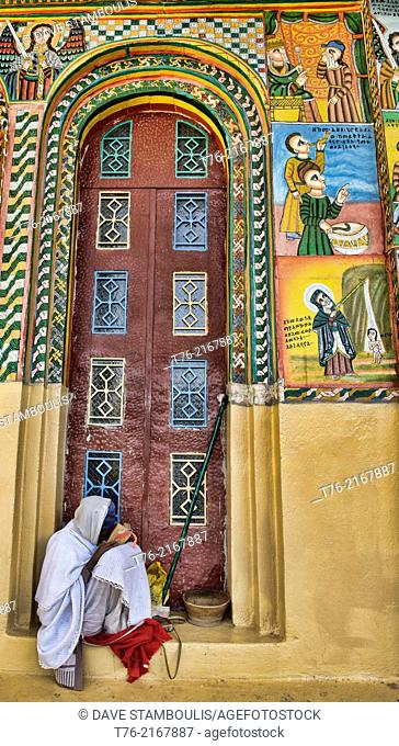 pilgrim at the St. Maryam of Sion Church in Axum, Ethiopia