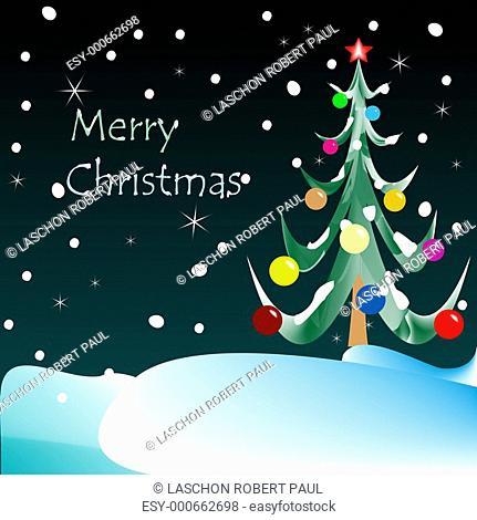 merry christmas card night vision
