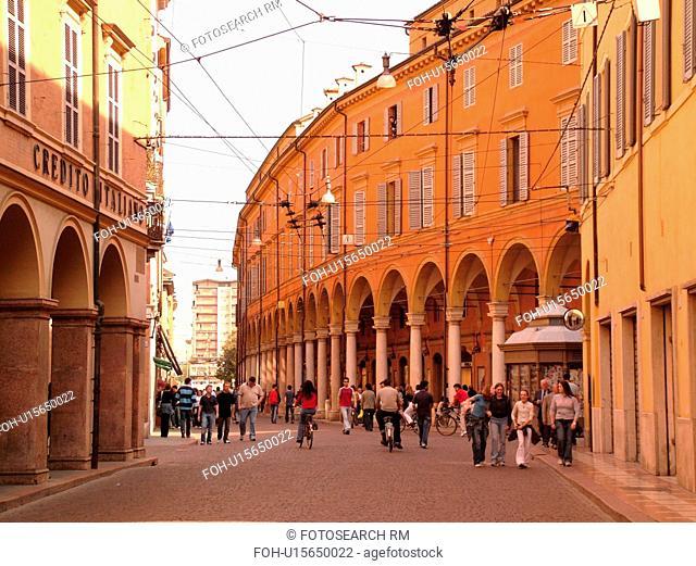 Modena, Italy, Emilia-Romagna, Europe, Via Emilia in downtown Modena