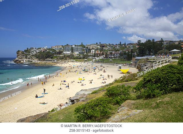 Bronte beach on a summers day in Sydney eastern suburbs,Australia
