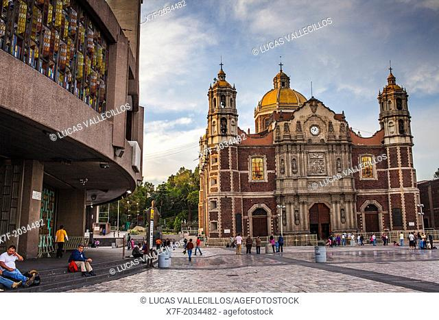 Old and New Basilicas Our Lady of Guadalupe, Mexico City, Mexico