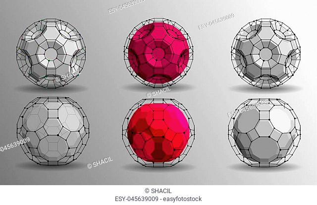 EPS10. 3d geometric vector background for business or science presentation