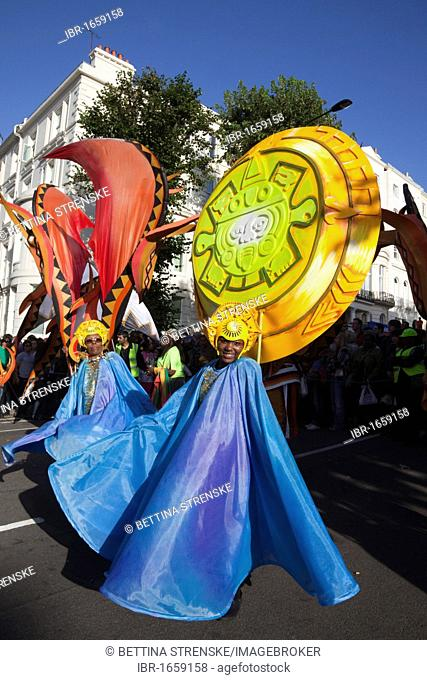 Carnival parade, Notting Hill Carnival, London, England, United Kingdom, Europe