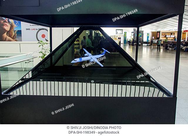 Aeroplane model, hyderabad airport, andhra pradesh, india, asia
