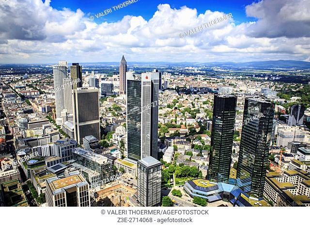 FRANKFURT ON THE MAIN, GERMANY: View over the City of Frankfurt on the Main from Main Tower, Germany