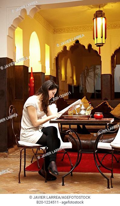 Te, Riad Amin, Medina de Marrakech, Marruecos