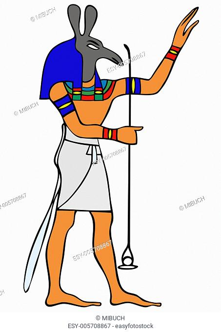 God of Ancient Egypt - Seth - vector