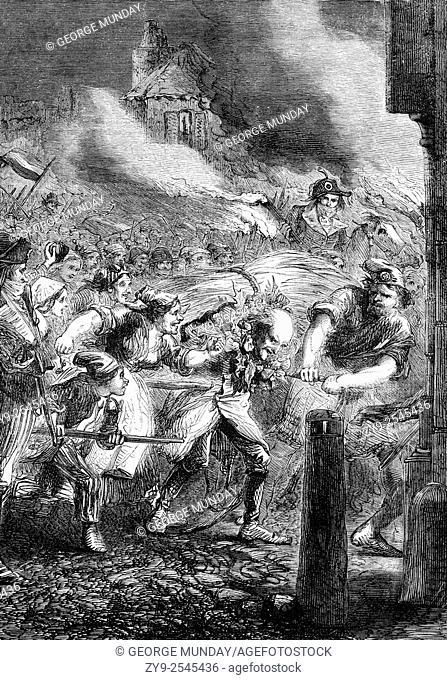 Following the Fall of the Bastille in 1789, Foulon de Doué, Controller-General of Finances under Louis XV escaped to Viry-Châtillon