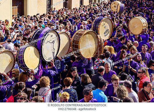 Drum and Bass Drum Route in Calanda, Spain