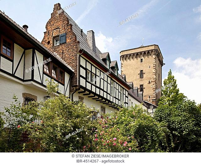 City wall with Rheintor in Dormagen-Zons, Zons, Lower Rhine, North Rhine-Westphalia, Germany