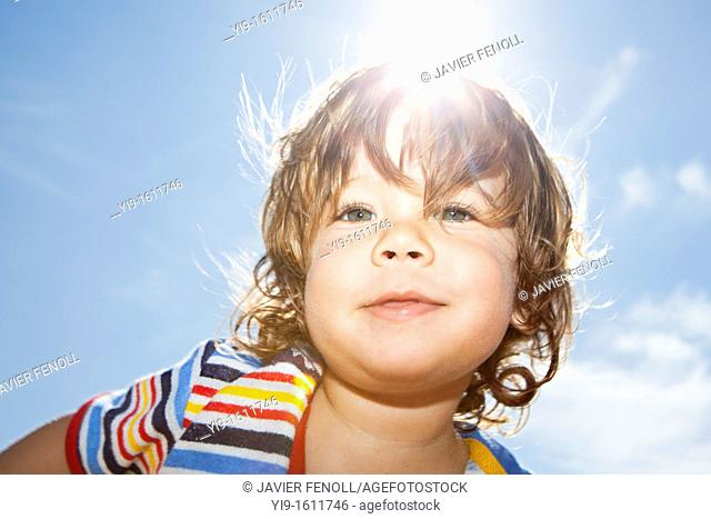 outdoor portrait of child