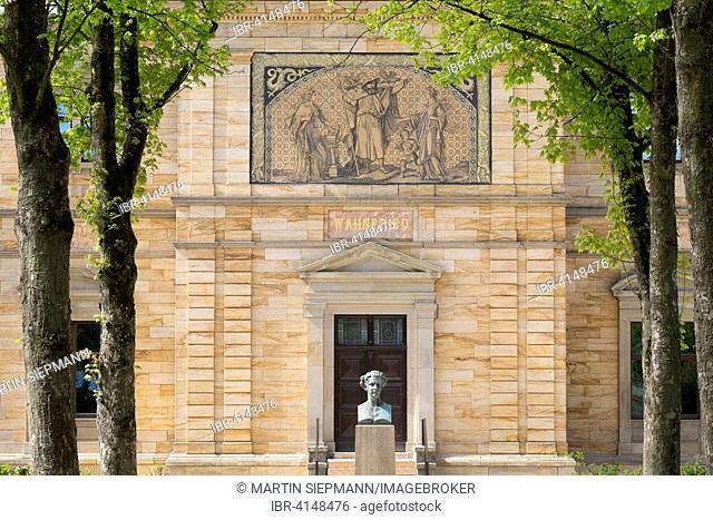 Wahnfried villa, Richard Wagner museum, Bayreuth, Upper Franconia, Franconia, Bavaria, Germany