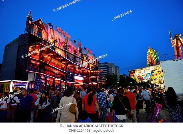Funfair in Bilbao, Biscay, Basque Country, Euskadi, Spain, Europe