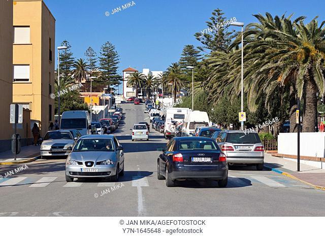 Urban scene in Tarifa, Spain, Costa de la Luz, Cadiz, Andalusia, Spain
