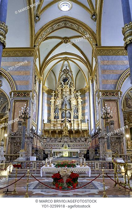 Naples Campania Italy. San Domenico Maggiore is a Gothic, Roman Catholic church and monastery, founded by the friars of the Dominican Order