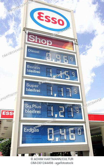 Car, Gas station, sign of Gas station, ad of gas station, Costs of petrol, Natural gas gas station