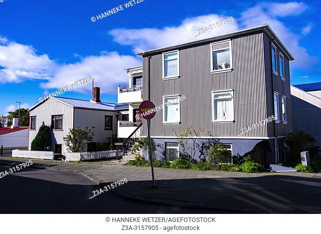 Traditional houses in Reykjavic, Iceland