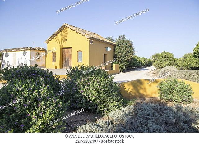 Yellow detached house in Spain Mediteranean architecture