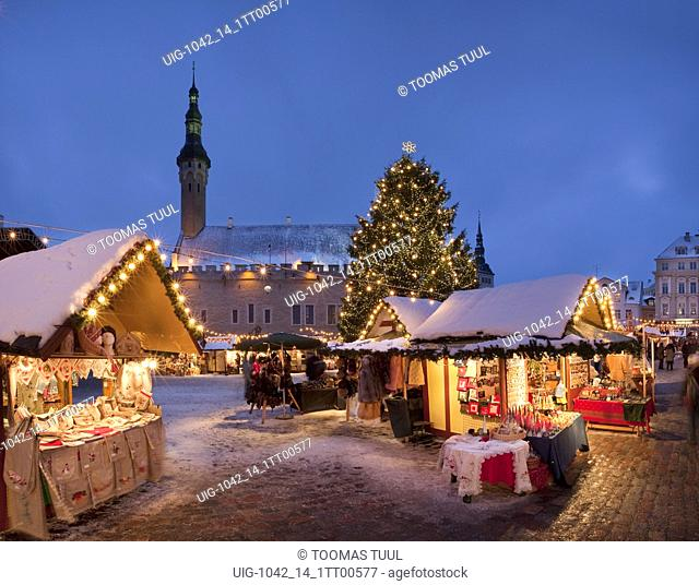 Christmas Market on Tallinn Town Hall Square