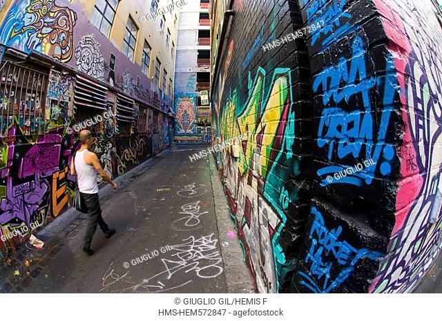 Australia, Victoria, Melbourne, downtown, Chapter House Lane