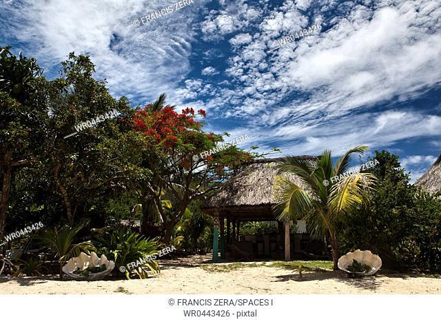 Small Hut on a Tropical Beach