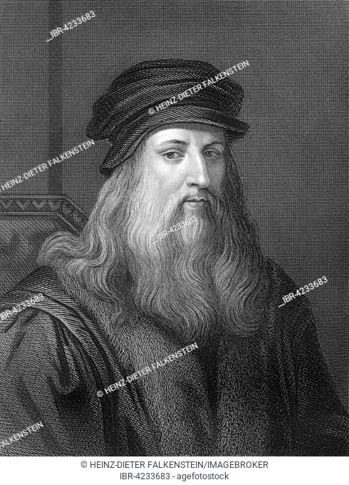 Leonardo da Vinci, 1452, 1519, Italian painter, sculptor, architect and engineer