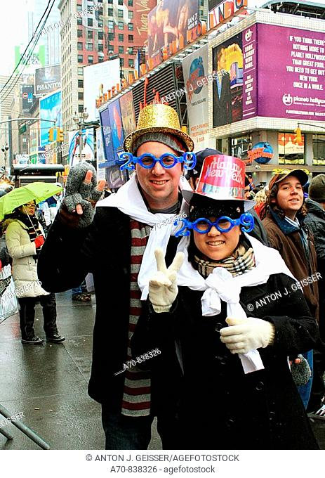 Happy New Year Times Square New York City USA