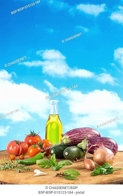 Vegetables ratatouille ingredients