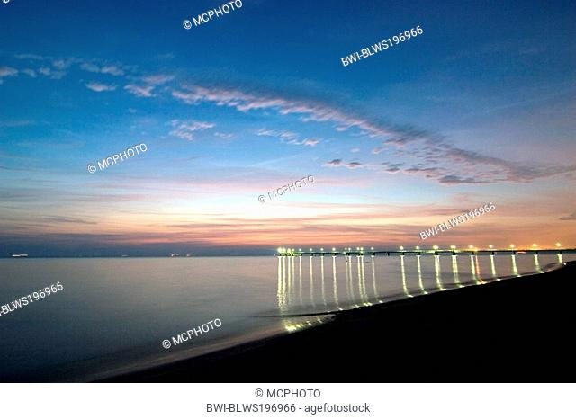 early morning at the Baltic Sea, Germany, Usedom, Ahlbeck