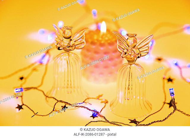 Glass Angels Decorated on Christmas