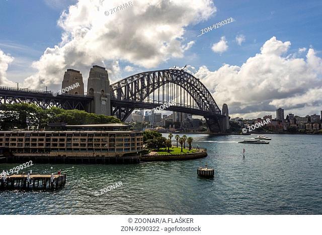 View on famous Harbour bridge, Sydney, Australia