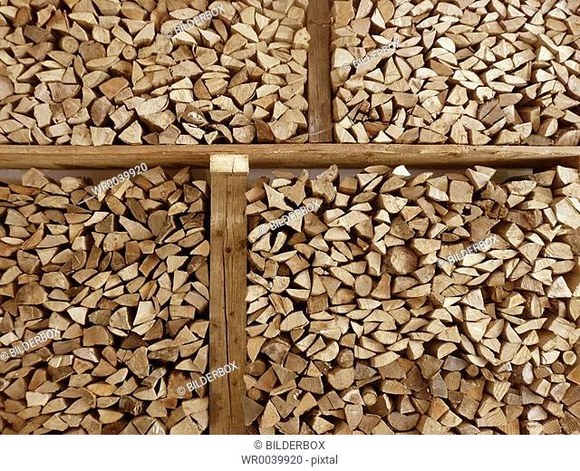 arranged firewood