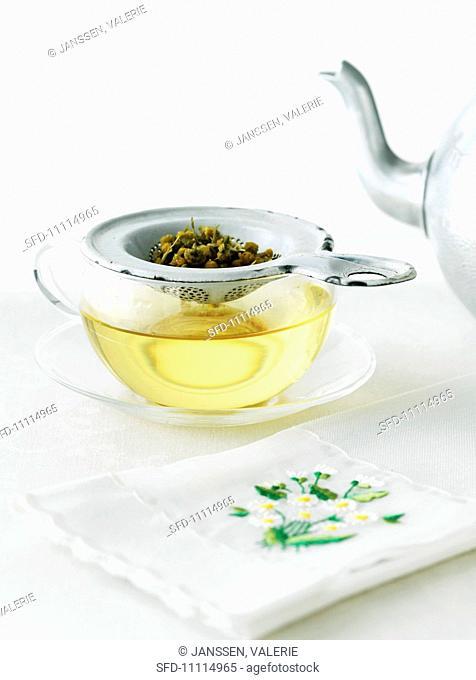 Preparing German Chamomile Tea