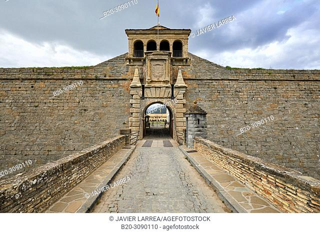La Ciudadela, Citadel, Castle of St Peter, Jaca, Huesca province, Aragón, Spain, Europe
