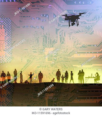 Drones spying on people's everyday lives