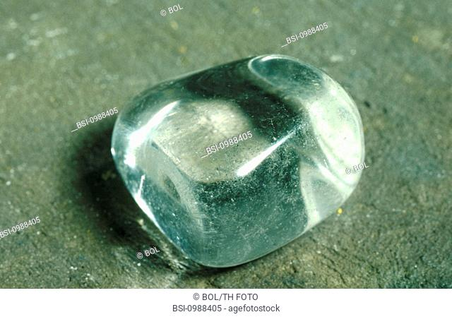 <BR>Worldwide distribution except for United Kingdom and Germany.<BR>Rock crystal (oxide class of minerals) is a variety of crystalline quartz
