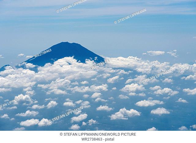 Indonesia, Bali, Kabliats Bangli, The highest mountain of Bali seen from the plane