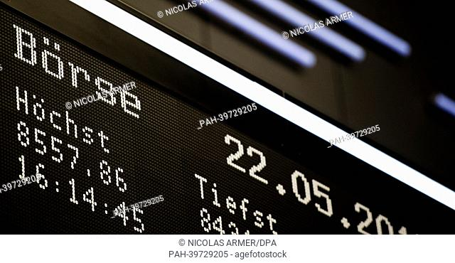DAX DAY HIGH (5/21/2013) - Newsworthy Images at age fotostock