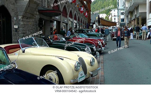 Classic Jaguar Oldtimer, St.Moritz, Switzerland, Schweiz