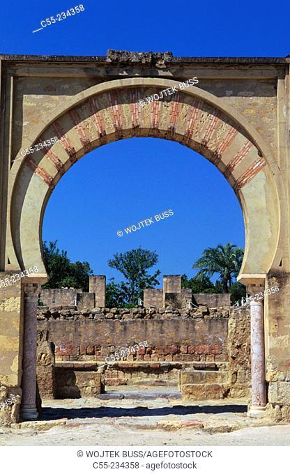 Ruins of Medina Azahara, palace built by caliph Abd al-Rahman III. Córdoba province. Andalusia. Spain