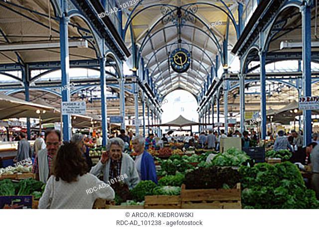 Market hall Dijon Cote d'Or Burgundy France