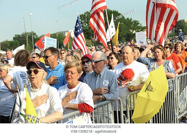 Tea Party demonstrators in Washington, DC