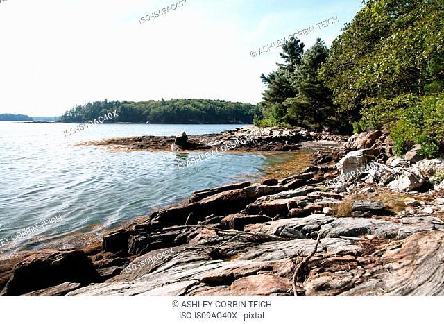 Lakeside view, Bath, Maine, USA