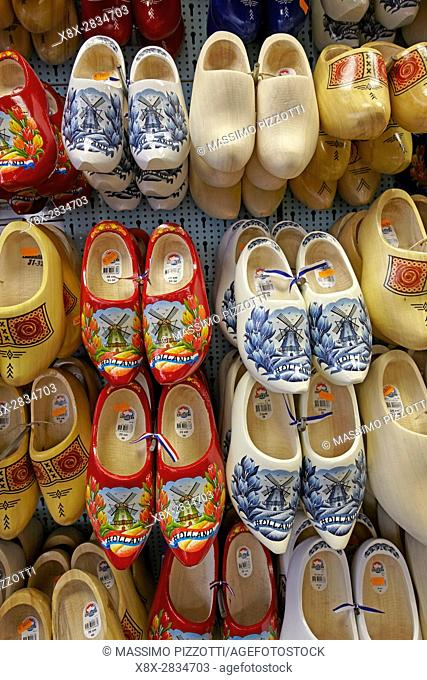 Traditional clogs in Amsterdam, Netherlands